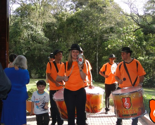 Festa de Casamento Thaisa e Rene - Aqueciamento Bateria