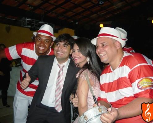 Festa de Casamento Rio de Janeiro Veronica e Vando - Bateria de Escola de Samba Convidados