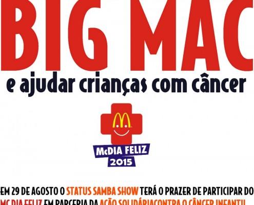 29 de Agosto dia de Comer Big Mac e ajudar Crianças com Cancer
