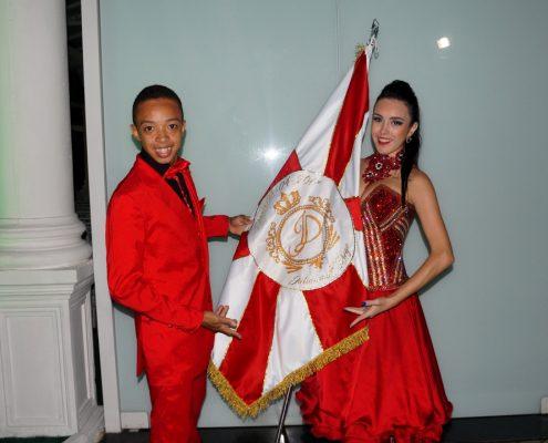 Bandeira Personalizada - Pavilhão - Casal de Mestre Sala e Porta Bandeira -