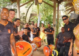 Equipe Reunida antes de começar mais um evento - Status Samba Show